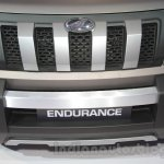 Mahindra TUV300 Endurance edition grille at the Auto Expo