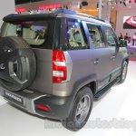 Mahindra TUV300 Endurance edition rear three quarters left at the Auto Expo