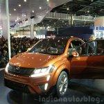 Mahindra XUV Aero front three quarter at the Auto Expo 2016