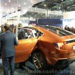 Mahindra XUV Aero rear three quarter at the Auto Expo 2016