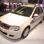 Mahindra e-Verito front three quarter at Auto Expo 2016