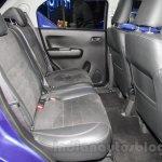 Maruti Ignis rear seats at the Auto Expo 2016
