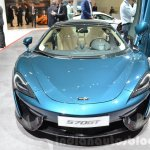 McLaren 570GT front blue at the 2016 Geneva Motor Show Live