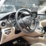 Mercedes V-Class Exclusive Edition dashboard at the 2016 Geneva Motor Show