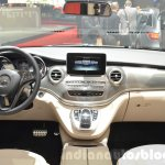 Mercedes V-Class Exclusive Edition dashboard view at the 2016 Geneva Motor Show