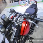 Moto Guzzi Audace handle grip at Auto Expo 2016