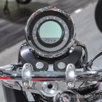 Moto Guzzi Eldorado instrument console at Auto Expo 2016