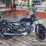 Moto Guzzi V9 Bobber black at Auto Expo 2016
