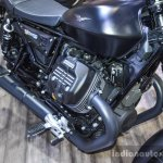 Moto Guzzi V9 Bobber engine at Auto Expo 2016