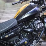 Moto Guzzi V9 Bobber fuel tank at Auto Expo 2016