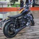 Moto Guzzi V9 Bobber rear quarter at Auto Expo 2016