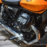 Moto Guzzi V9 Roamer engine at Auto Expo 2016