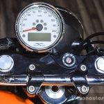 Moto Guzzi V9 Roamer instrument console at Auto Expo 2016