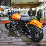 Moto Guzzi V9 Roamer yellow orange at Auto Expo 2016