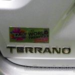 Nissan Terrano T20 Edition badge at 2016 Auto Expo