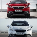 Peugeot 2008 front old vs. new