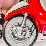 Peugeot Django front wheel disc brake at Auto Expo 2016
