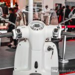 Peugeot Django handlebar at Auto Expo 2016