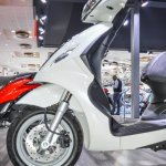 Piaggio Fly 125 front disc brake at Auto Expo 2016