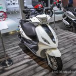 Piaggio Fly 125 front quarter at Auto Expo 2016