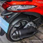 Piaggio Liberty IGET 125 ABS exhaust at Auto Expo 2016