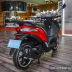 Piaggio Liberty IGET 125 ABS rear quarter at Auto Expo 2016