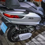 Piaggio MP3 300 Lt Sport ABS exhaust at Auto Expo 2016
