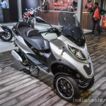 Piaggio MP3 300 Lt Sport ABS front quarter at Auto Expo 2016