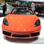 Porsche 718 Boxster S front at the Geneva Motor Show Live