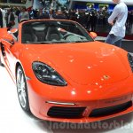 Porsche 718 Boxster S front quarter at the Geneva Motor Show Live