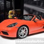 Porsche 718 Boxster S front three quarter at the Geneva Motor Show Live
