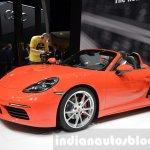 Porsche 718 Boxster S front three quarter at the Geneva Motor Show Live