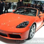 Porsche 718 Boxster S headlamp, bumper at the Geneva Motor Show Live