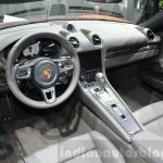 Porsche 718 Boxster S interior at the Geneva Motor Show Live