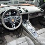 Porsche 718 Boxster S interior at the Geneva Motor Show Live