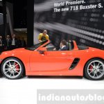 Porsche 718 Boxster S side at the Geneva Motor Show Live
