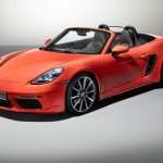 Porsche 718 Boxster front three quarters