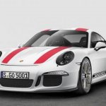 Porsche 911R leaked front three quarters image