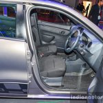 Renault Kwid 1.0 AMT front seats at the Auto Expo 2016