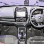 Renault Kwid 1.0 dashboard at the Auto Expo 2016
