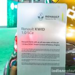 Renault Kwid 1.0 details at the Auto Expo 2016