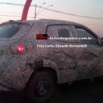 Renault Kwid rear three quarter spotted testing in Brazil
