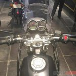 Royal Enfield Himalayan black handlebar at a dealership