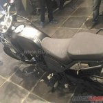Royal Enfield Himalayan black seats at a dealership