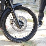Royal Enfield Himalayan front wheel unveiled