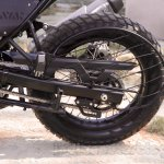 Royal Enfield Himalayan rear wheel saree guard unveiled