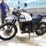 Royal Enfield Himalayan white front quarter unveiled