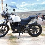 Royal Enfield Himalayan white side unveiled