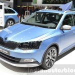 Skoda Fabia Combi ScoutLine front three quarter at the 2016 Geneva Motor Show Live