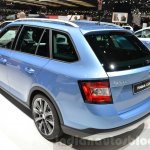 Skoda Fabia Combi ScoutLine rear three quarter at the 2016 Geneva Motor Show Live